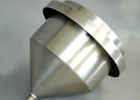 The collection funnel can be chosen in stainless steel for organic campaigns (optional)